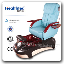 Silla de pedicura de pie de PU de vidrio de belleza (B501-51)