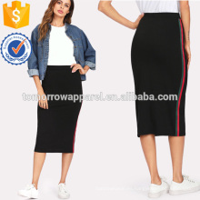 La falda lateral de la cinta rayada fabrica la ropa al por mayor de las mujeres de la manera (TA3068S)
