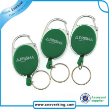 Promotional Gift Square Shape ID Badge Reels with Epoxy Logo