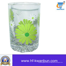 Copo de vidro bebendo com decalque de impressão Home Decorationkb-Hn0410
