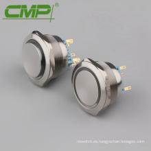 Interruptor de pulsador momentáneo de metal DPDT de 40 mm