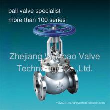 Válvula de globo / BS1873 Válvula de globo con brida de acero inoxidable