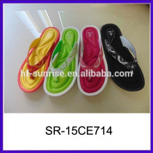 Colorful memory spong insole lady slipper foot massage slipper massage slipper