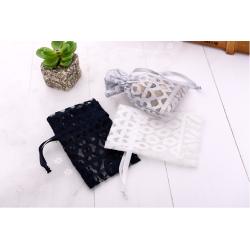Colorful wholesale mesh lace pouch for decoration