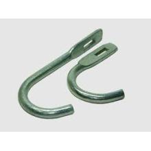 Acero metálico de gancho de tubo