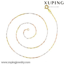 42548 multicolore en alliage doré bijoux femme colliers simples minces