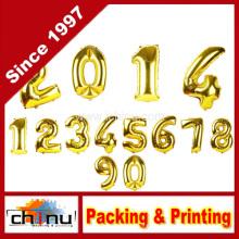 Golden Number Foil Balloon para Fiestas de Navidad (420055)