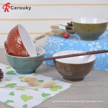Kundenspezifisches Entwurfsabziehbild keramisches Steinzeugweihnachtskindfruchtschüssel