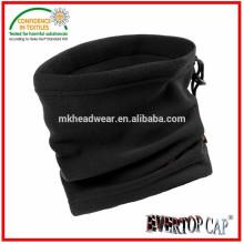 Calentador de cuello usado adulto, 100% poliester polar cuello de cuello polar, calentador de cuello elástico