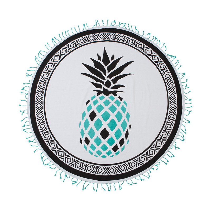 Screen Print Round Beach Towel