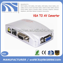 Hot Sell AV Signal Converter Box VGA TO AV Converter