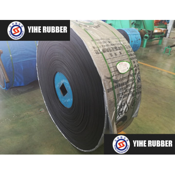 Heat-resistant rubber conveyor belt