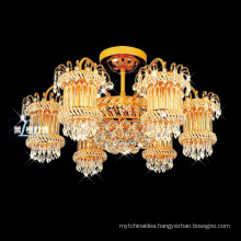 Classic Round LED Crystal Ceiling Light For Living Room Indoor Lamp