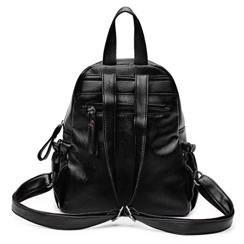 Drawstring leather backpack for girls