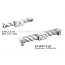 Cilindros sem haste CY3B cilindro série de alumínio
