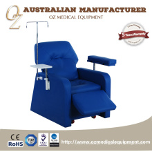 Cadeira comercial profissional da doação de sangue da mobília do hospital para o uso de transfusão do sangue Sofá de reclinação aprovado da infusão