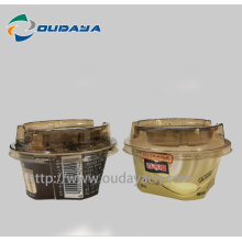 In mould label yogurt cup Ice Cream Packaging Yogurt IML plastic yogurt cup with Spoon iml