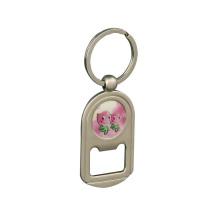 Billiger Verkaufs-Metallöffner Keychain mit Drucklogo