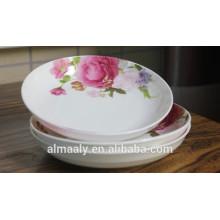 plato de fruta profunda de porcelana