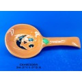 Ceramic Pumpkin Spoon Rest for Halloween Decoration