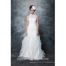 Custom Made Sexy A-Line Halter decote e vestido de casamento Backless Lace AS291