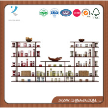 Customized 9′ Wide Free Standing Shop Display Shelf
