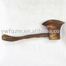 juguete de hachas de madera
