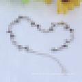 Pulsera de cristal púrpura en forma de corazón irregular de la plata esterlina 925 de las mujeres