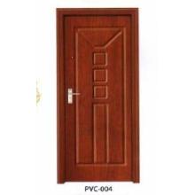 Porta de madeira do PVC para cozinha ou banheiro (pd-008)