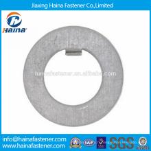 Fournisseur chinois Meilleur prix DIN 462 Acier au carbone / Acier inoxydable Rondelles à onglet interne Avec zingué / HDG