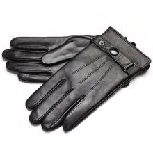 Men High Quality Fashion Goatskin Leather Dress Warm Gloves (YKY5193)
