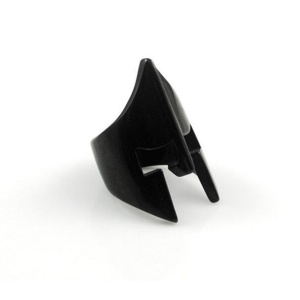 Mens Fashion Spartan Helmet Black Rings For Men