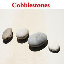 Piedra del guijarro de la tira, piedra del río del guijarro, piedra pulida del adoquín de la tira del tigre (XG-CS-001)