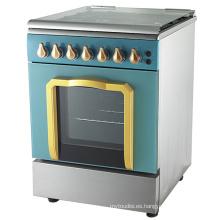 Cocina de gas de pie de diseño nuevo con horno