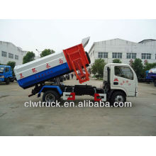Dongfeng mini 4-5 tons refuse truck with lifting mechanism