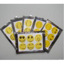 Patch adapté aux besoins du client de moustique d'huile de citronnelle de logo pour l'adulte et les enfants