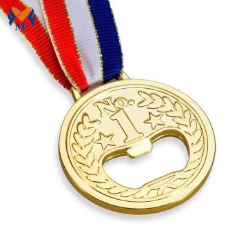 Diseño personalizado botellas de cerveza abridor de medallas