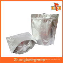 wholesale printing and packaging material custom food grade stand up moisture proof aluminum foil zip lock bag