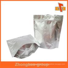 Impressão por grosso e material de embalagem grau de alimentos personalizados stand up umidade folha de alumínio zip lock bag