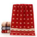 Hot Sale Red Towels Snowflake Patterned voor Xmas