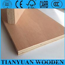 4mm / 5mm / 6mm, 1220 * 2440mm Okoume / Bintangor / madeira compensada comercial de embalagem