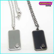 Wholesale Custom Made Enamel Hip-Pop Dog Pendant Silver Necklace