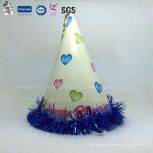 Papel de feliz cumpleaños, sombrero de cono para niños
