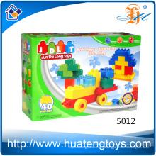 2016 nuevos juguetes del bloque hueco del coche de la educación DIY para los niños