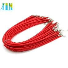 Collier cordon en soie rouge avec boucle en stock, 100pcs / pack, ZYN0011-rouge