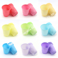 Green colorful Disposable Plastic Dental Cup for promotion sales