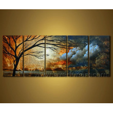 Hand Painted Landscape Oil Painting on Canvas
