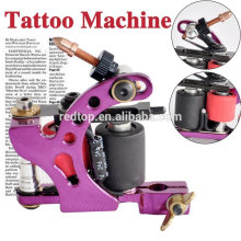 Hermosa pistola de cobre hecha a mano de la máquina del tatuaje en púrpura para el uso de la señora