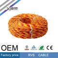 SIPU RVS flexible 450 / 750V PVC trenzado 0.5mm cable cuadrado cable eléctrico