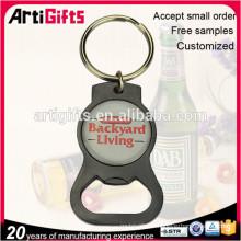 Keychain ouvreur de bouteille en métal logo personnalisé